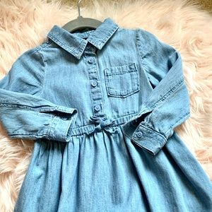 NWOT GAP Toddler Girl Denim Dress, Size 2T
